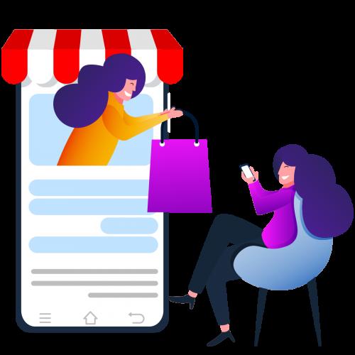 —Pngtree—online shopping concept flat illustration_5351093